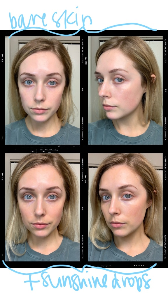 bare skin vs drops 4 grid